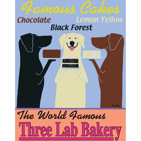 Three Lab Bakery   16X20 Canvas Art