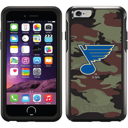 St. Louis Blues Traditional Camo Design on OtterBox Symmetry Series Case for Apple iPhone 6