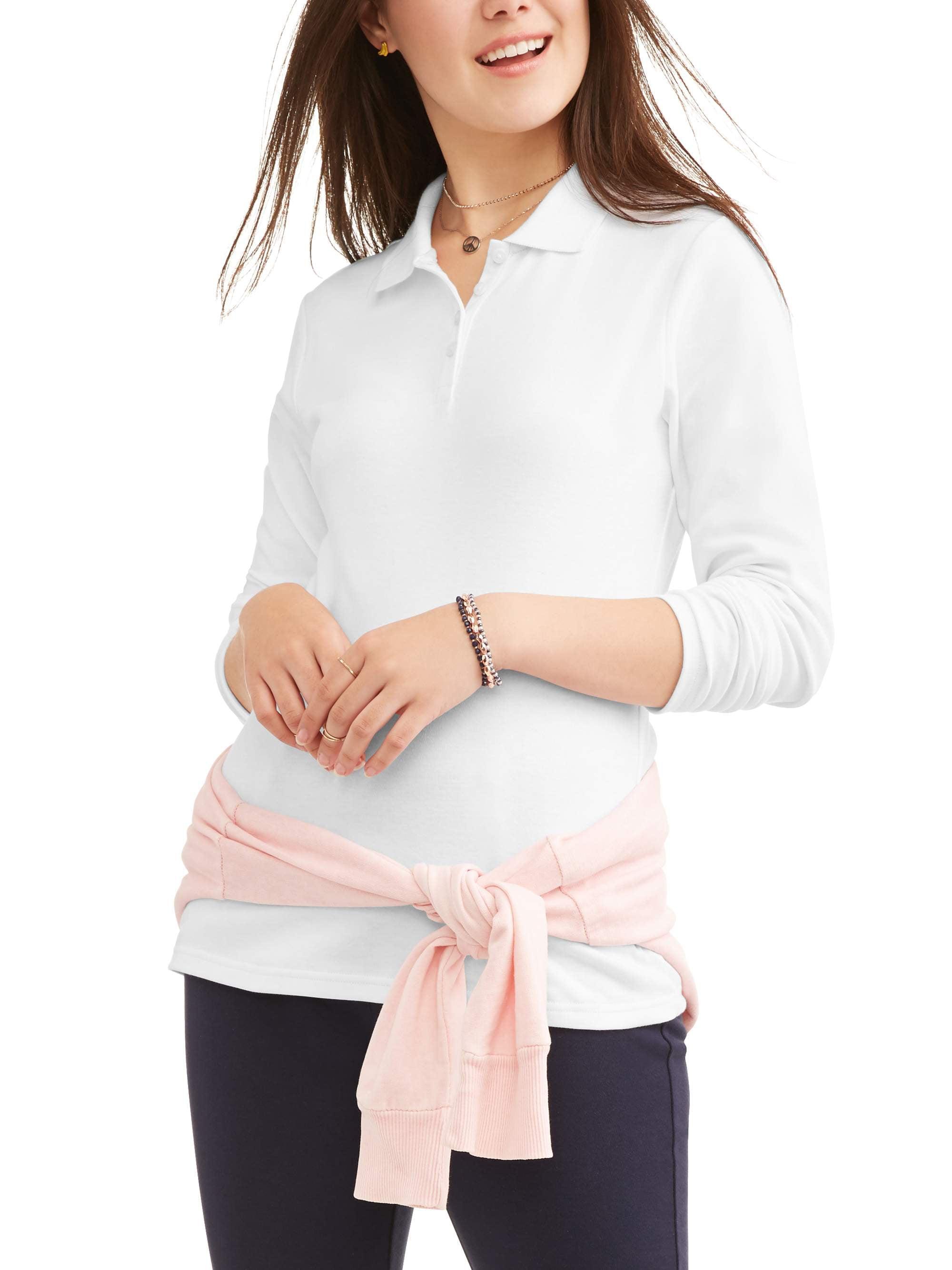 Juniors School Uniform Long Sleeve Interlock Polo