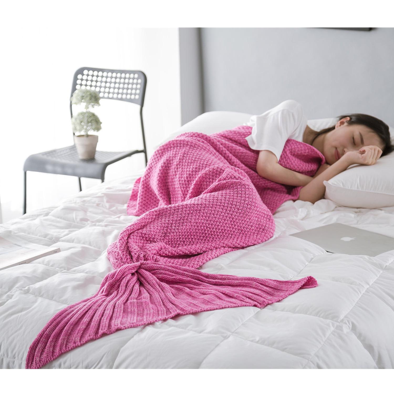Mermaid Tail Blanket, Outgeek Comfortable Soft Knitted Sofa Blanket Sleeping Blanket Bed Blankets for Kids... by Outgeek