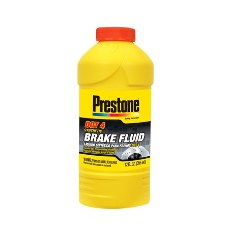 Mustang Brake Fluid - Prestone DOT 4 Synthetic Brake Fluid, 12 fl oz