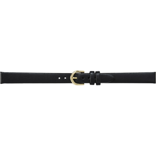 Timex Women's 11mm Genuine-Leather Long Replacement Watch Band, Black