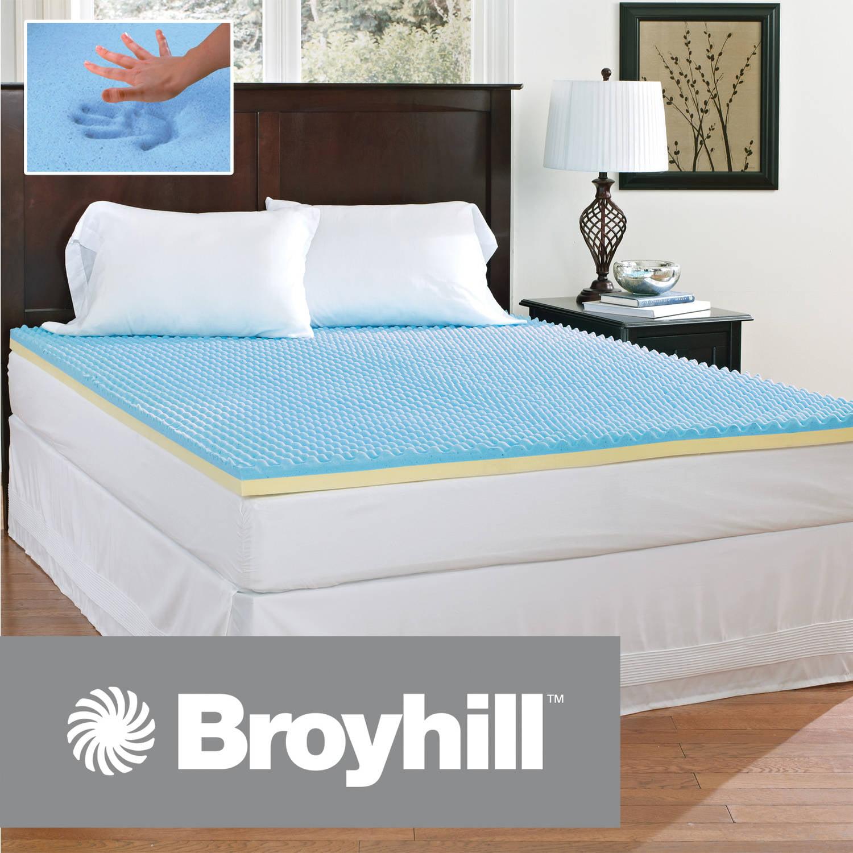 Broyhill 2 Inch Comfort Temp Gel Memory Foam Mattress Topper