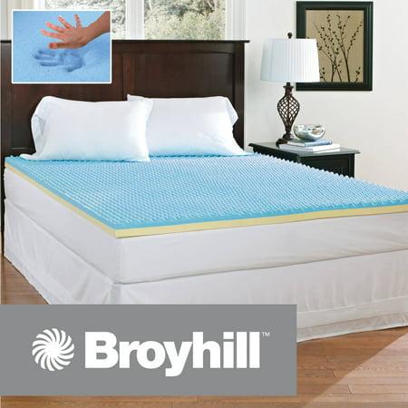 broyhill 2 inch comfort temp gel memory foam mattress topper. Black Bedroom Furniture Sets. Home Design Ideas