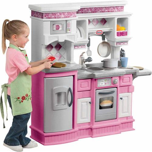 Little Tikes Gourmet Prep N Serve Kitchen Pink Walmart Com