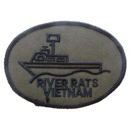Vietnam River Rats Patch Black & Gray - Pearl River Patch Halloween