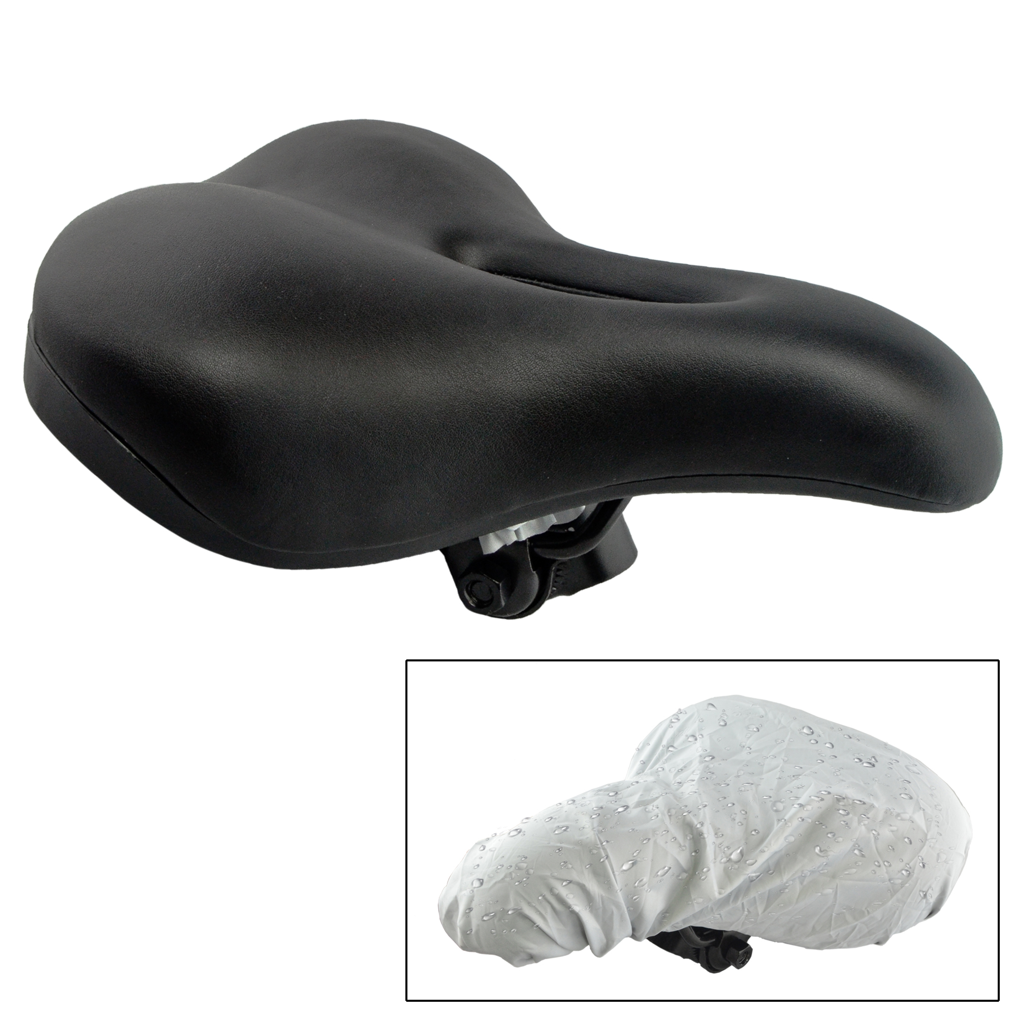 Lumintrail Comfort Gel Vented Bicycle Cruiser Saddle ...