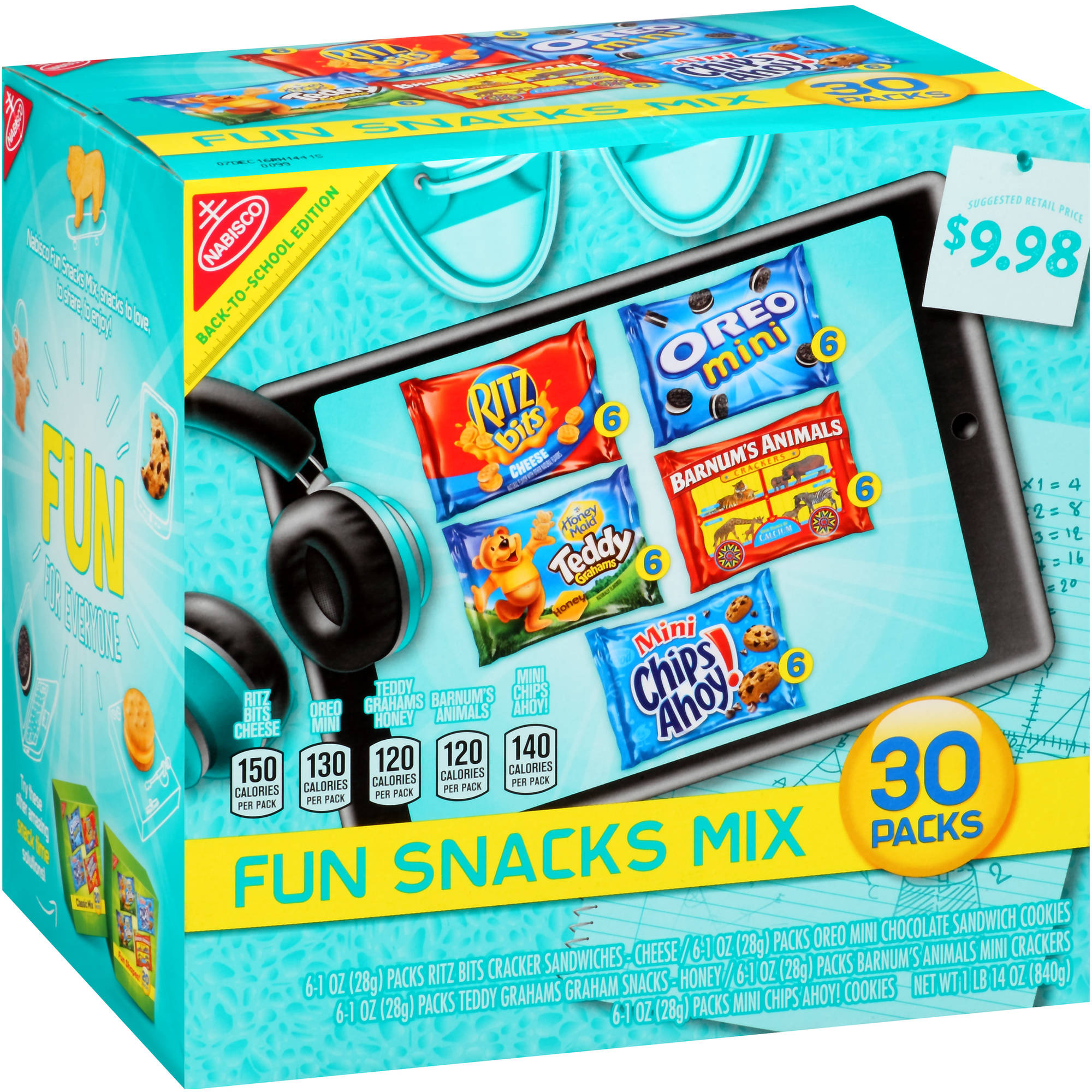 Nabisco Fun Snacks Mix Variety Pack, 1 oz, 30 count