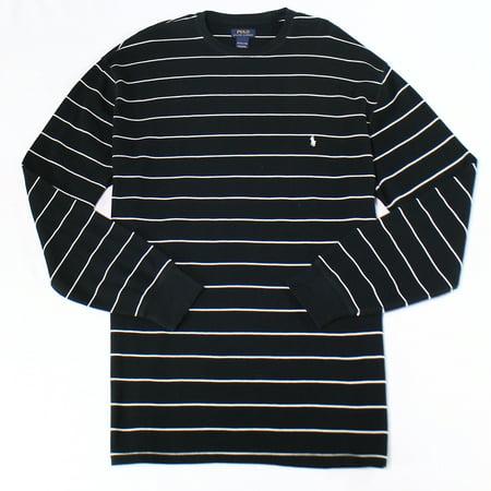 Striped Thermal Neck Size 3xl Ralph Lauren Black Polo Shirt New Crew Men XTkZOPiu