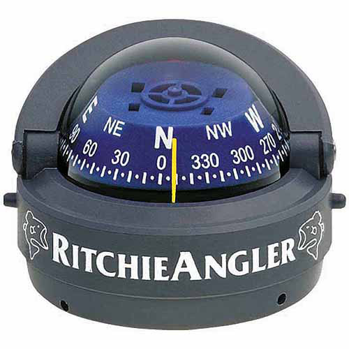Ritchie RA-93 RitchieAngler Surface Mount Compass, Grey with Blue Dial by Generic
