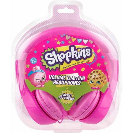 Shopkins Kids-Friendly Headphones - Walmart.com
