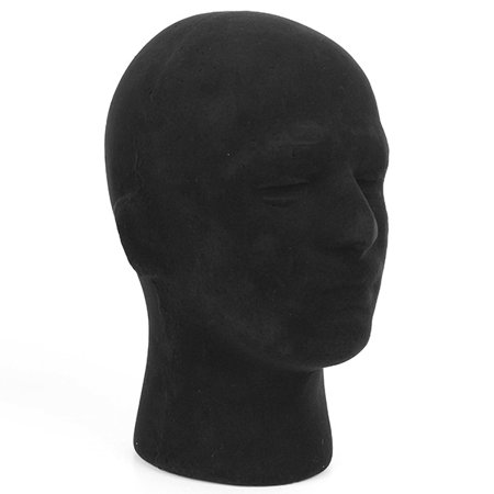 Male Styrofoam Foam Mannequin Manikin Head Model Glass Cap Wigs Display Stand](Styrofoam Skull Head)