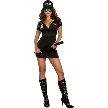 Police Dog Halloween Costume (Swat Police Women's Adult Halloween)
