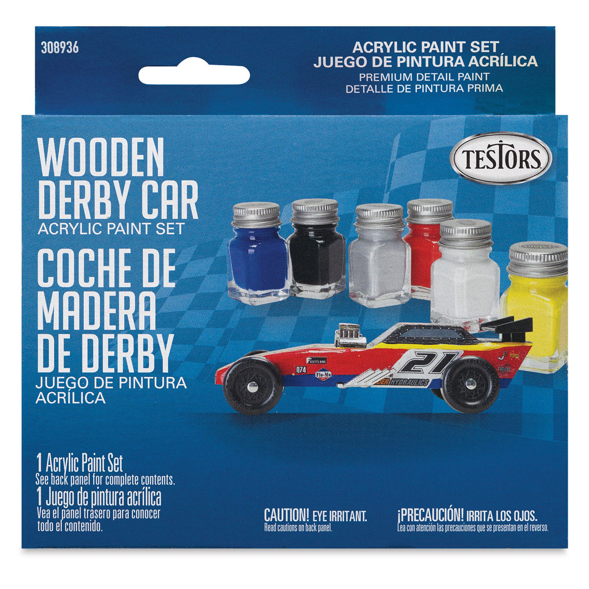 Testors Wooden Derby Car Acrylic Paint Sets - Primary Set ...