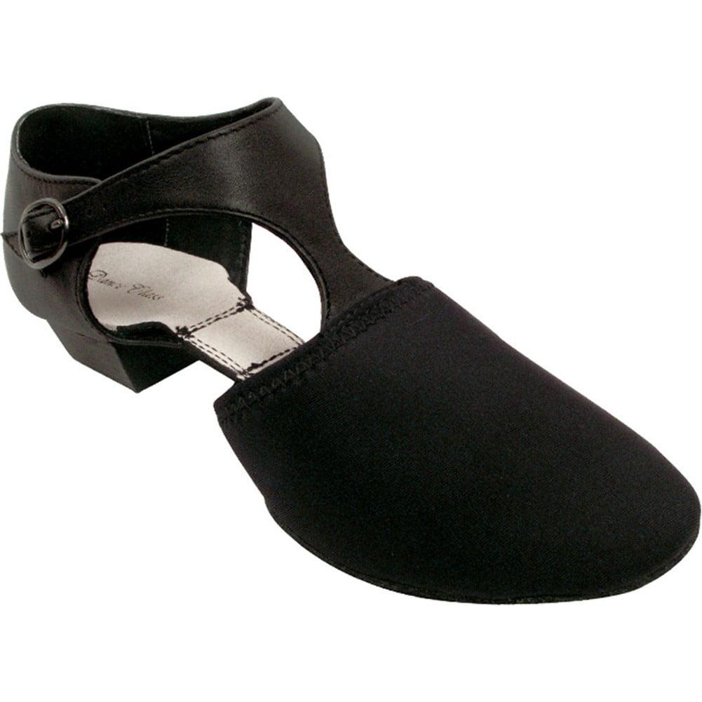 Black T-Strap Neoprene Vamp Leather Quarter T-Strap Black Flexible Jazz Shoes 4-11 Womens 07cfa1