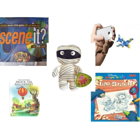 Children's Gift Bundle [5 Piece] - Scene it? Edition DVD - AppGear Foam  Fighters Pacific Mobile App iPhone Android - Sugarloaf Kelly s Mummy Doll  11