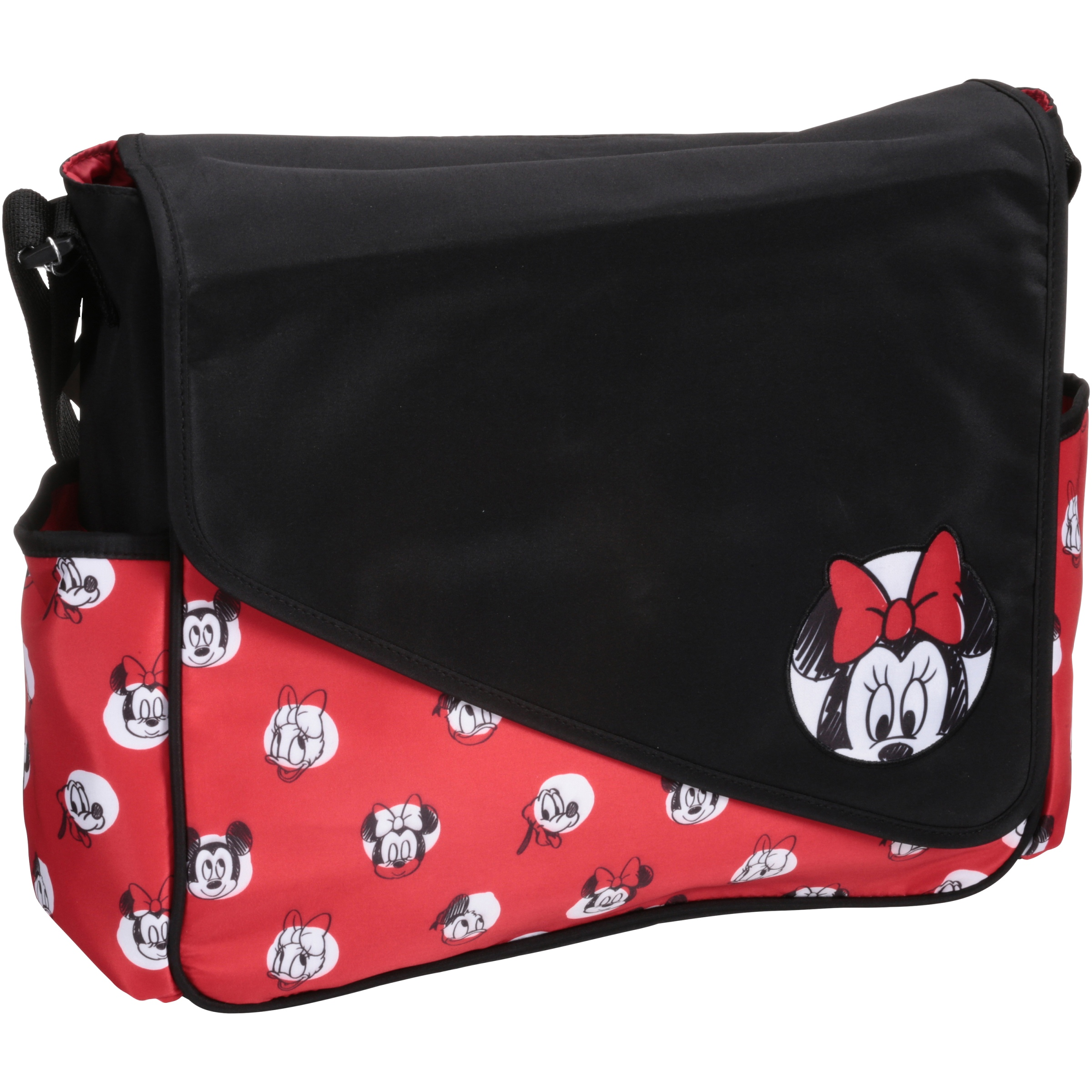 Disney Minnie Mouse Sketch Flap Messenger Diaper Bag, Red by Disney