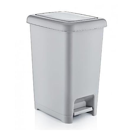 Black Pedal Bin (Superio Slim Pedal Trash Can, 64Qt. (Grey and Black))