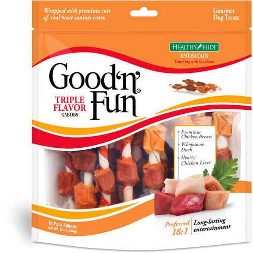 Good 'n' Fun Tri Flavor Kabobs, 12 oz