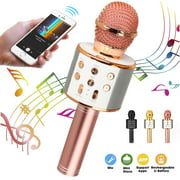 Wireless Microphone, Wireless Bluetooth Karaoke Microphone, Portable Handheld Karaoke Mic Speaker Machine for Home Birthday Party, Karaoke Singing Weddings Stage, Best Gifts Toys for Kids Adults