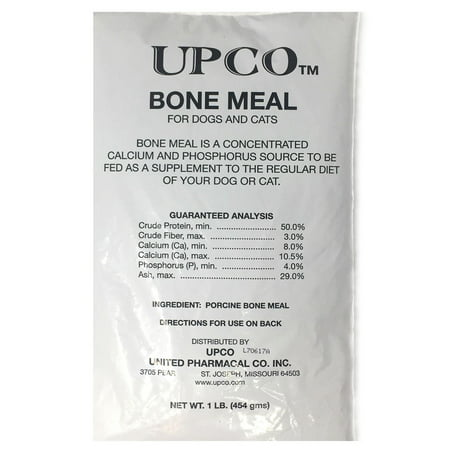 Bone Meal Powder for Dogs and Cats 1 Pounds from Upco Made in (Powder Bones)