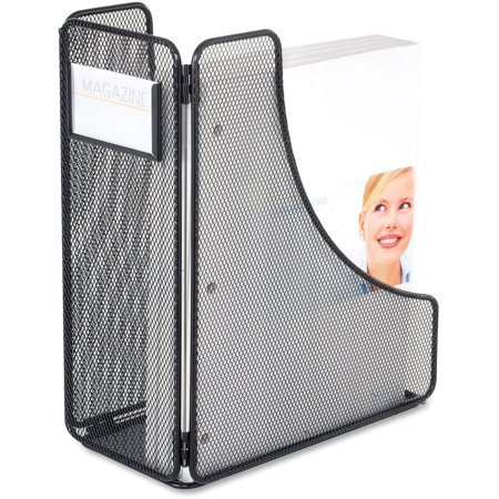 Safco Onyx Mesh Magazine Holder - Black - Steel - 1 Pack