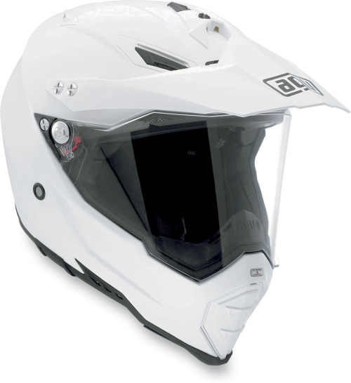 AGV AX-8 EVO DS Dual Sport Solid MX Offroad Helmet White
