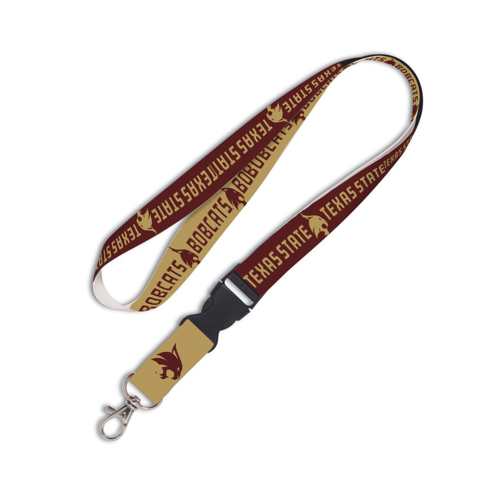 Texas State Bobcats Official NCAA 20 inch  Lanyard Key Chain Keychain by Wincraft