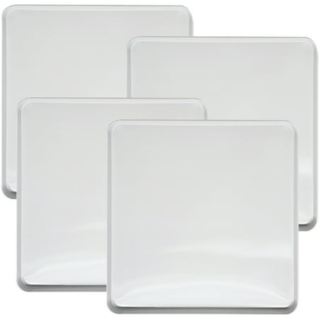 Range Kleen 4-Piece Burner Kover Set, Square, White Range Kleen 4-Piece Burner Kover Set, Square, White:4-piece square white gas burner cover setEach cover measures 9.5  x 9.5  x .8125 Ideal way to enhance a compatible gas stoveCoordinate with a range of kitchen finishes