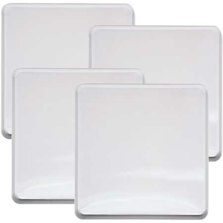 Range Kleen 4-Piece Burner Kover Set, Square, White