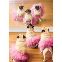 Avanti Press Ballerina Pugs Funny / Humorous Dog Birthday Card