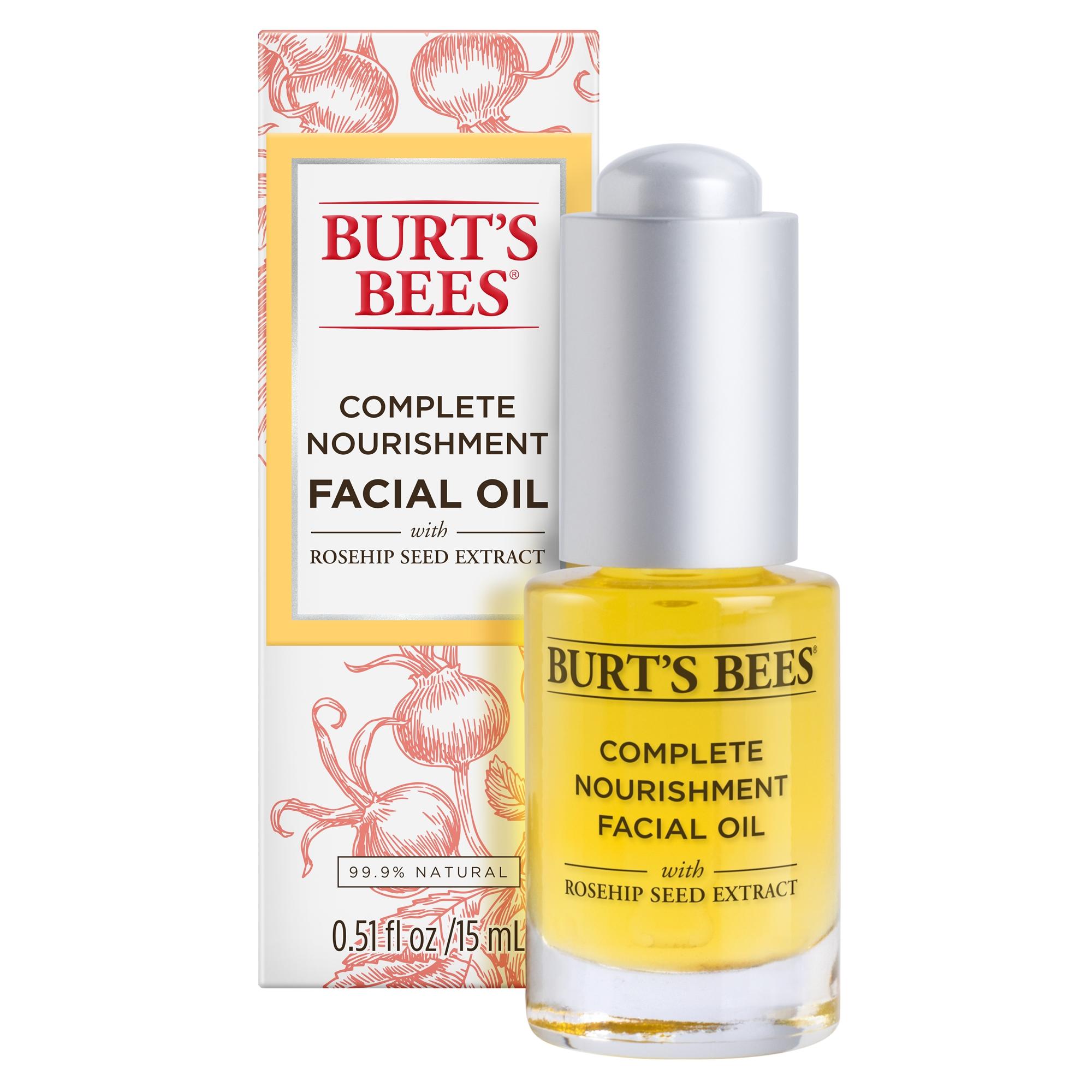 Burt's Bees Complete Nourishment Facial Oil, Anti-Aging Oil,  0.51 oz
