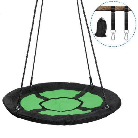 Zeny 40 Inch Diameter Round Oxford Detachable Web Tree Swing Platform Outdoor Kids W/safe Hanging Strap ()