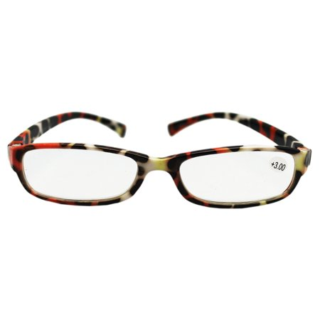 Narrow Lenses Cheetah Spot Frame Reading Glasses (+3.00 ...