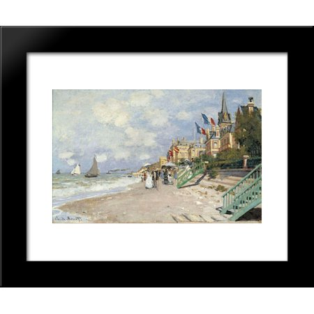 The Boardwalk on the Beach at Trouville 20x24 Framed Art Print by ...
