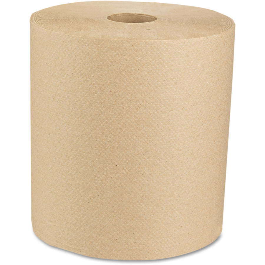 """Boardwalk 16GREEN Green Seal Recycled Paper Towel Roll, Hardwound, Universal Roll Towels, Natural, 8"""" x 800 ft (Case of 6)"""