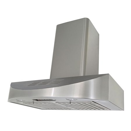- KOBE CHX3836SQBD-WM-3 Brillia 36-inch Ductless Wall Mount Range Hood, 3-Speed, 400 CFM, Fits Ceiling Height 7.5'-9.5'