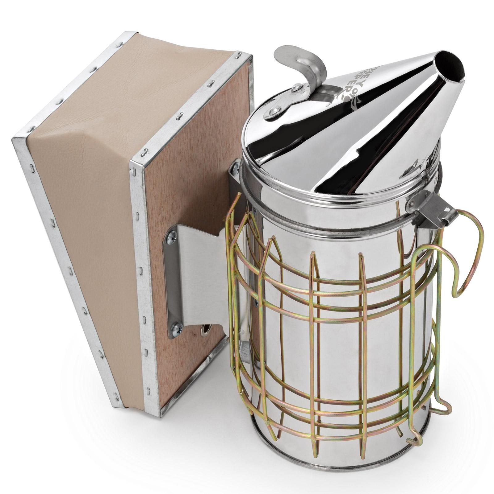Honey Keeper Bee Hive Smoker Stainless Steel with Heat Shield Beekeeping Beehive Equipment