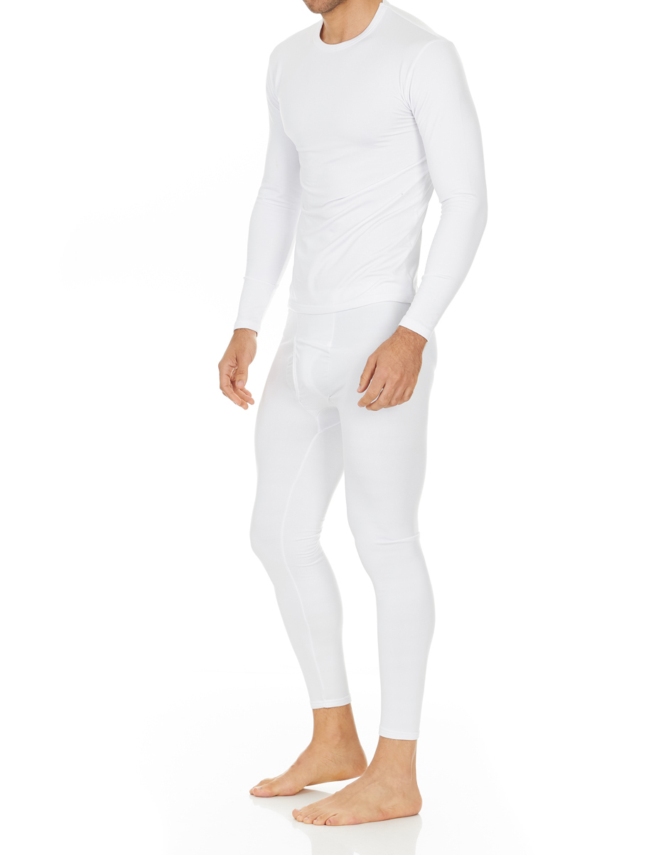 Mens White Thermal Long  Johns Warm /& Comfy Underwear