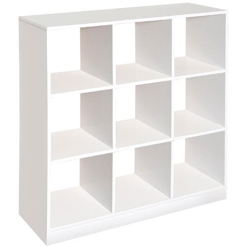 Badger Basket 9 Cubby Storage Unit, White by Badger Basket