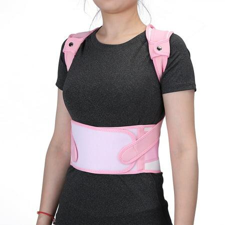- WALFRONT Kids Pink Posture Corrector, Back Waist Shoulder Supporting Brace Belt Straighten Upper Back Slouching Corrective Humpback Belt