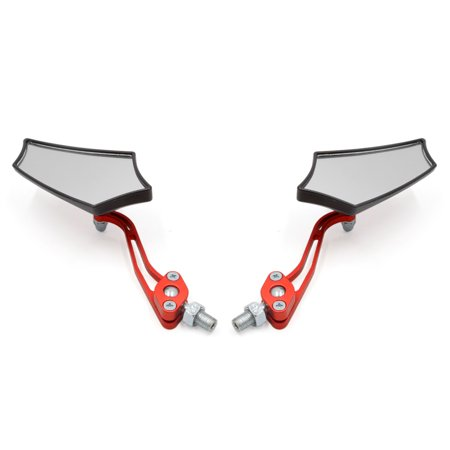 Orange 8mm 10mm Thread Dia Adjustable Rearview Mirror for Motorcycle Motorbike - image 1 of 4