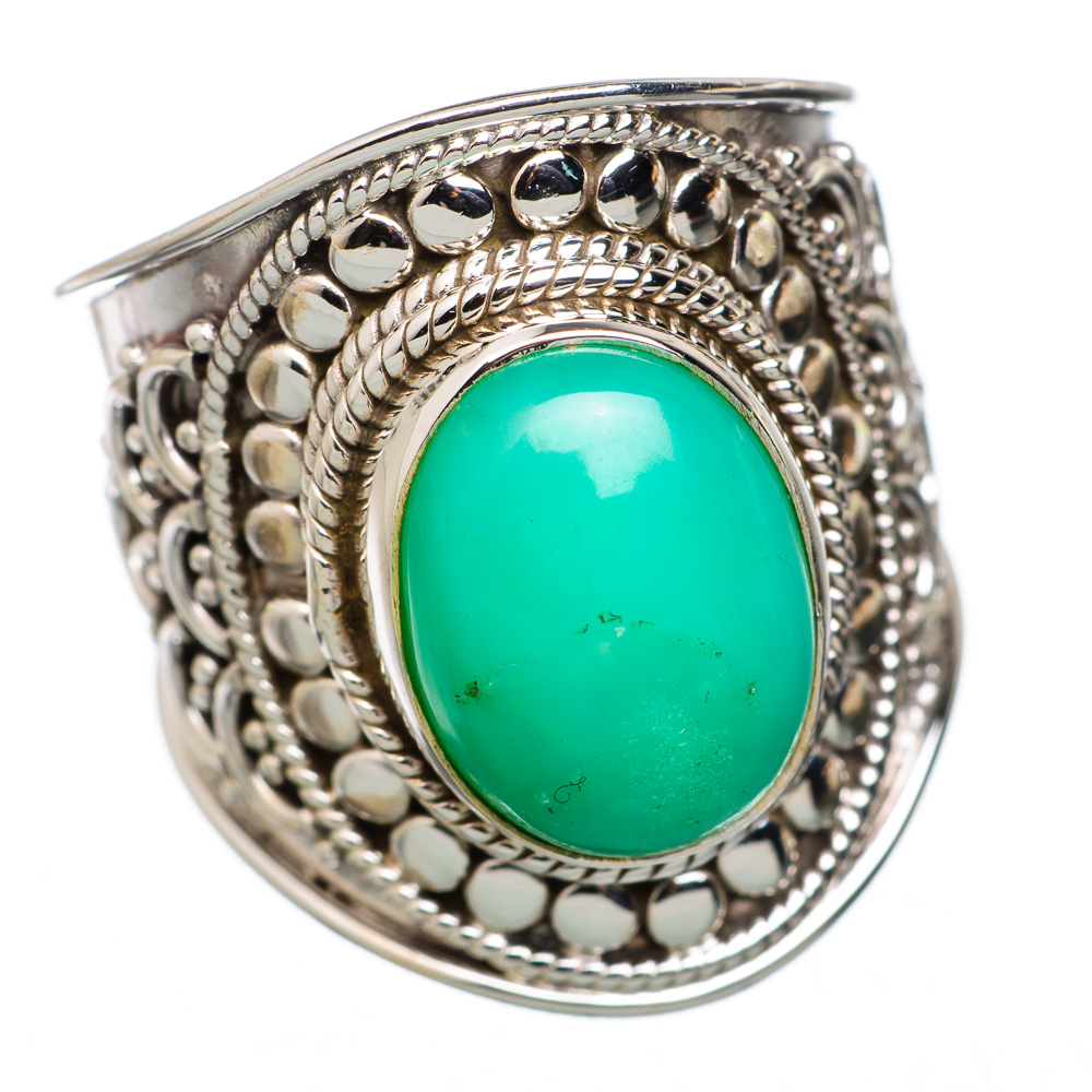 Ana Silver Co Chrysoprase 925 Sterling Silver Ring Size 7.25 RING823354 by Ana Silver Co.