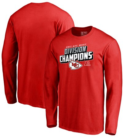 Kansas City Chiefs NFL Pro Line by Fanatics Branded 2017 AFC West Division Champions Long Sleeve T-Shirt - Red](Nfl Am Halloween 2017)