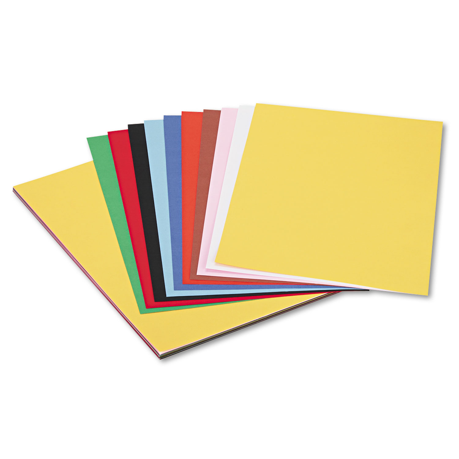 Peacock Sulphite Construction Paper, 76 lbs., 12 x 18, Assorted, 50 Sheets/Pack