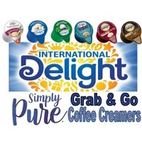 Grab and Go Coffee Creamer | Single Serve Non-Dairy | International Delight | 100 Count Variety Pack