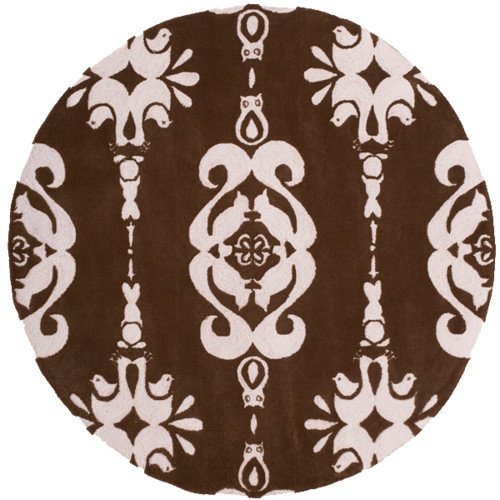 Momeni Lil' Mo Classic Brown/Soft Pink Area Rug