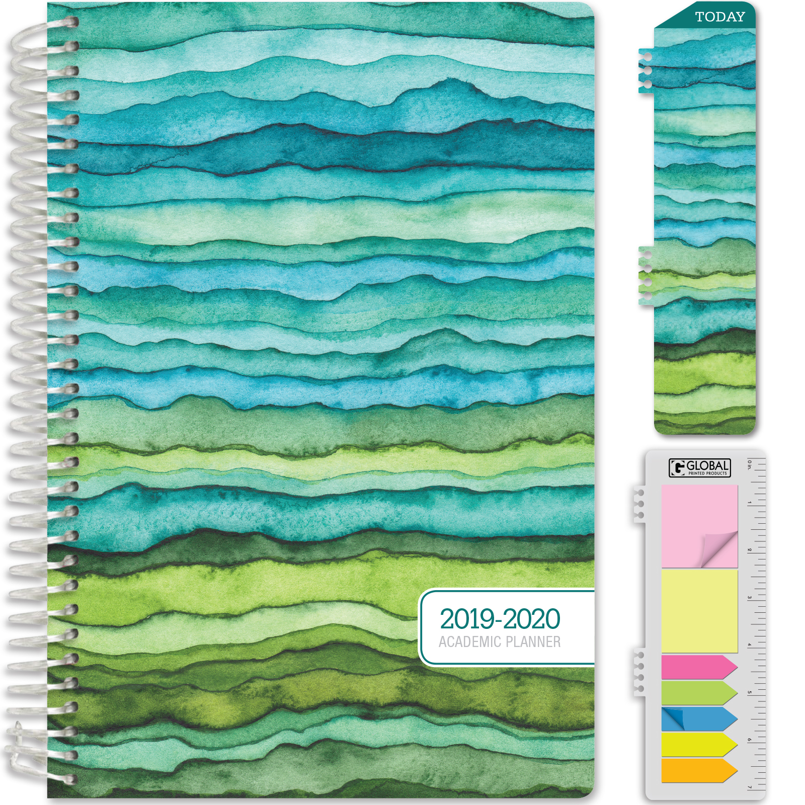 Weekly Monthly And Yearly Planner With Monthly Tabs  Pen L 2019-2020 Planner