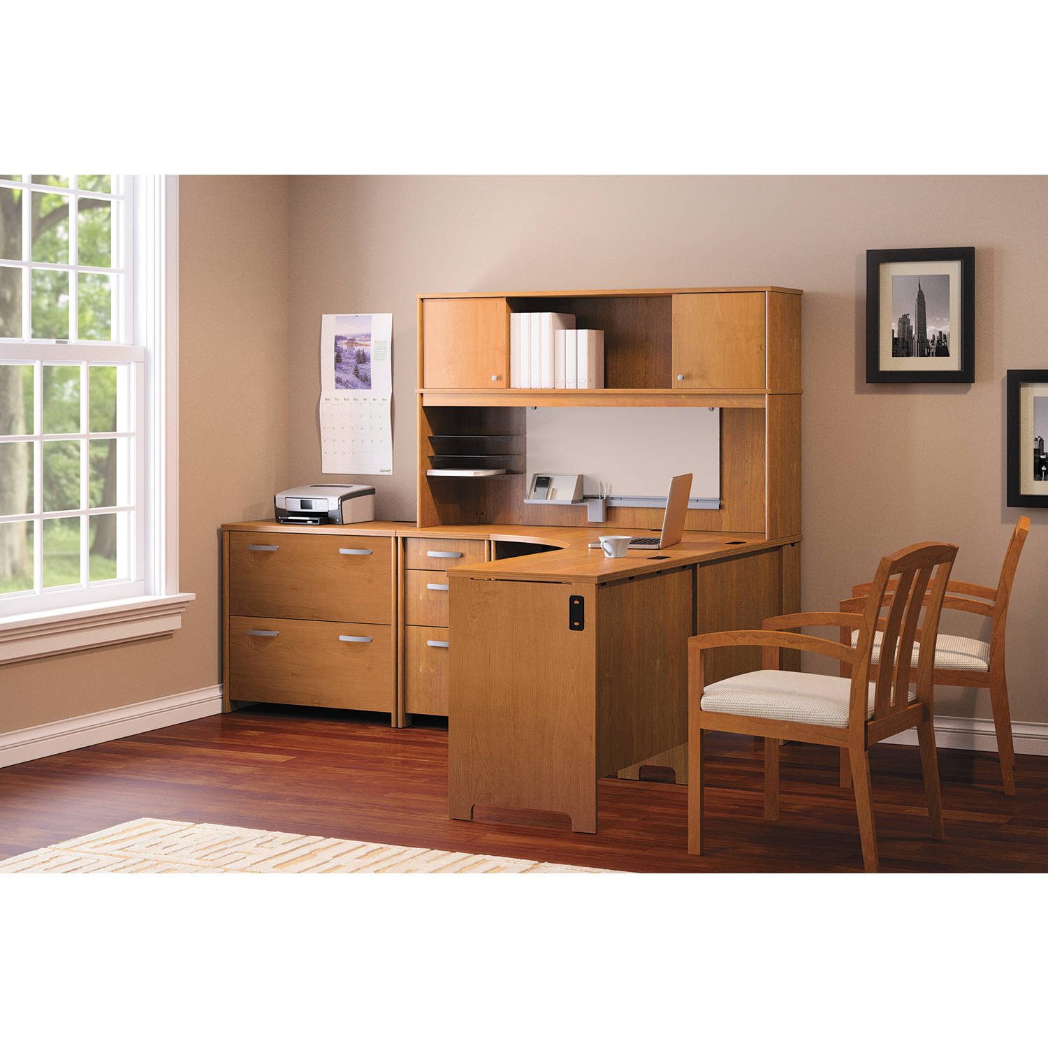 Office Connect By Bush Furniture Envoy Laminate Office Suite