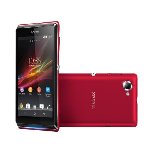 Sony Mobile Xperia L C2104 Smartphone - Wi-Fi - 3.9G - Bar - Red 2RH0277